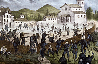 0295404 © Granger - Historical Picture ArchiveHISTORY.   Battle of San Fermo at Como, May 27, 1859, engraving. Second War of Independence, Italy 19th century. Full Credit: DEA / A. DE GREGORIO / Granger, NYC -- All rights rese