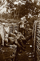 0295406 © Granger - Historical Picture ArchiveHISTORY.   Soldiers in the trenches. World War I, Italy, 20th century. Full Credit: DEA / A. DE GREGORIO / Granger, NYC -- All Rights Reserved.