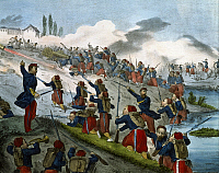 0295412 © Granger - Historical Picture ArchiveHISTORY.   Episode in the Battle of Palestro, May 31, 1859. Second War of Independence, Italy 19th century. Full Credit: DEA / A. DAGLI ORTI / Granger, NYC -- All rights reserved.