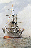 0295590 © Granger - Historical Picture ArchiveHISTORY.   The Japanese cruiser Tokiwa. Russo-Japanese War, China, 20th century. Full Credit: DEA / G. DAGLI ORTI / Granger, NYC -- All Rights Reserved.