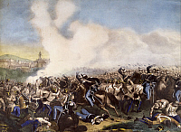 0295659 © Granger - Historical Picture ArchiveHISTORY.   Battle of Montebello, May 20, 1859, engraving. Second War of Independence, Italy 19th century. Full Credit: DEA / A. DE GREGORIO / Granger, NYC -- All rights reserved.