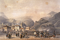 0295672 © Granger - Historical Picture ArchiveHISTORY.   French camp at Susa in 1859, by Carlo Bossoli (1815-1884), engraving. Second War of Independence, Italy 19th century. Full Credit: DEA / G. CIGOLINI / Granger, NYC -- All Rights Reserved.