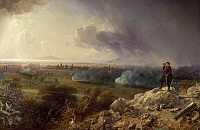 0296667 © Granger - Historical Picture ArchiveHISTORY.   The siege of Capua seen from Monte Sant'Angelo, by Carlo Bossoli (1815-1884). Second War of Independence, Italy, 19th century. Full Credit: DEA / G. CIGOLINI / Granger, NYC -- All Rights Reserved.