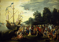 0296838 © Granger - Historical Picture ArchiveHISTORY.   Cleopatra landing at Tarsus, 42 BC, by Frans Francken II (1581-1642). Republican Age, Turkey, 1st century BC. Full Credit: DEA / G. DAGLI ORTI / Granger, NYC -- All righ