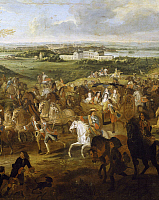 0296858 © Granger - Historical Picture ArchiveHISTORY.   Louis XIV's carriage, detail from The royal procession, painting by Adam Frans Van der Meulen (1632-1690). France, 17th century. Full Credit: DEA / G. DAGLI ORTI / Granger, NYC -- All Rights Reserved.