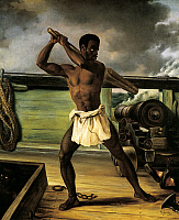 0296958 © Granger - Historical Picture ArchiveHISTORY.   A slave rebellion on a slaveship, 1833, by Edouard Antoine Renard (1802-1857), oil on canvas. Slavery, Caribbean, 19th century. Full Credit: DEA / G. DAGLI ORTI / Granger, NYC -- All Rights Reserved.