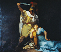0297300 © Granger - Historical Picture ArchiveHISTORY.   Radamisto kills Zenobia, by Luigi Sabatelli (1772-1850), 1803, oil on canvas, 125x145 cm. Armenian kingdom, 1st century. Full Credit: DEA PICTURE LIBRARY / Granger, NYC -- All Rights Reserved.
