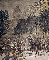 0297850 © Granger - Historical Picture ArchiveHISTORY.   Revolt in Paris after the announcement of the failure of the League of the canal, the so-called Panama scandal, 1892. France, 19th century. Full Credit: DEA / M. SEEMULLER / Granger, NYC -- All rights reserved.