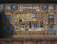 0298560 © Granger - Historical Picture ArchiveHISTORY.   Spain - Seville - Spain Square - Azulejos. Full Credit: DEA / G. DAGLI ORTI / Granger, NYC -- All rights rese
