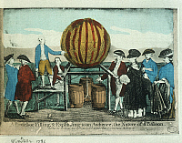 0299148 © Granger - Historical Picture ArchiveHISTORY.   Inghilterra, 18th century - Windsor, balloon flight experience. Full Credit: DEA / G. DAGLI ORTI / Granger, NYC -- All Rights Reserved.