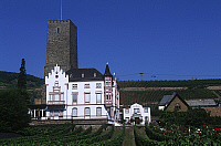 0299273 © Granger - Historical Picture ArchiveHISTORY.   Germany - Hesse - Middle Rhine Valley (UNESCO World Heritage List, 2002). Rudesheim am Rhein - Boosenburg castle. Full Credit: DEA / W. BUSS / Granger, NYC -- All rights