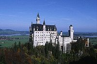0299294 © Granger - Historical Picture ArchiveHISTORY.   Germany, Bavaria, Neuschwanstein Castle (Schloss Neuschwanstein) Architecture, Neuschwanstein Castle royal palace in Bavarian Alps, built for Louis II of Bavaria in 19th century. Full Credit: DEA / W. BUSS / Granger, NYC -- All Rights Reserved.