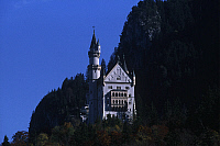 0299296 © Granger - Historical Picture ArchiveHISTORY.   Germany, Bavaria, Neuschwanstein Castle (Schloss Neuschwanstein) Architecture, Neuschwanstein Castle royal palace in Bavarian Alps, built for Louis II of Bavaria in 19th century. Full Credit: DEA / W. BUSS / Granger, NYC -- All Rights Reserved.