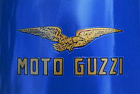 0299732 © Granger - Historical Picture ArchiveHISTORY.   Military Vehicles - Italy, 20th century. Guzzi Alce PAI motorcicle, year 1941. Detail: motorcycle brand logo. Full Credit: DEA / G. CIGOLINI / Granger, NYC -- All rights