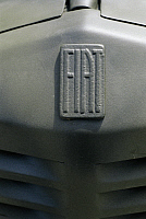 0299742 © Granger - Historical Picture ArchiveHISTORY.   Military Vehicles - Italy, 20th century. Fiat 508 Militare, year 1941. Detail: car brand logo. Full Credit: DEA / G. CIGOLINI / Granger, NYC -- All rights reserved.