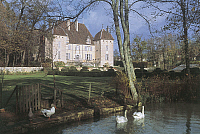 0299962 © Granger - Historical Picture ArchiveHISTORY.   France - Franche-Comté - Haute-Saône - Filain. The castle, built at the end of the 14th century. Full Credit: DEA / C. SAPPA / Granger, NYC -- All rights reserved.