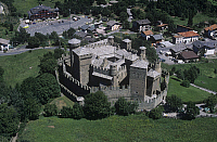 0300124 © Granger - Historical Picture ArchiveHISTORY.   Aerial view of the castle of Fenis in the Clavalite' Valley, Valle d'Aosta Region. Full Credit: DEA / G. GNEMMI / Granger, NYC -- All rights reserved.