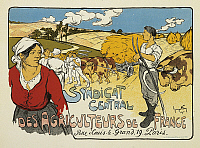 0300501 © Granger - Historical Picture ArchiveILLUSTRATIONS & POSTERS.   Posters, France, 20th century. Syndicat Central des Agriculteurs de France, by George Fay, 1900. Full Credit: DEA PICTURE LIBRARY / Granger, NYC -- All Rights Reserved.