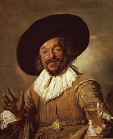 0300614 © Granger - Historical Picture ArchiveFINE ART.   The Merry Drinker, 1628-1630, by Frans Hals (ca 1581-1666), oil on canvas, 81x66.5 cm. Full Credit: DEA / G. DAGLI ORTI / Granger, NYC -- All rights reserved.