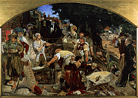 0300769 © Granger - Historical Picture ArchiveFINE ART.   Work, 1852-1863, by Ford Madox Brown (1821-1893), oil on canvas, 137x197 cm. Full Credit: DEA PICTURE LIBRARY / Granger, NYC -- All rights reserved.