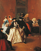 0300810 © Granger - Historical Picture ArchiveFINE ART.   The new Ridotto (foyer), by Pietro Longhi (1701-1785). Full Credit: DEA / A. DAGLI ORTI / Granger, NYC -- All Rights Reserved.