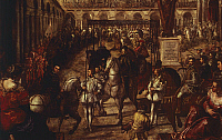 0300834 © Granger - Historical Picture ArchiveFINE ART.   Philip II received by Francesco Gonzaga in Mantua, by Jacopo Robusti known as Tintoretto (1518-1594). Full Credit: DEA PICTURE LIBRARY / Granger, NYC -- All rights rese