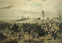 0301026 © Granger - Historical Picture ArchiveFINE ART.   The Battle of Montebello, 1862, by Giovanni Fattori (1825-1908), oil on canvas. Full Credit: DEA / PINAIDER / Granger, NYC -- All rights reserved.