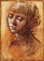 0301214 © Granger - Historical Picture ArchiveFINE ART.   Womanly figure, by Filippino Lippi (1457-ca 1504), drawing. Full Credit: DEA / G. NIMATALLAH / Granger, NYC -- All Rights Reserved.