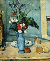 0301226 © Granger - Historical Picture ArchiveFINE ART.   The blue vase, 1885-1887, by Paul Cezanne (1839-1906), oil on canvas, 61x50 cm. Full Credit: DEA / G. NIMATALLAH / Granger, NYC -- All rights reserved.