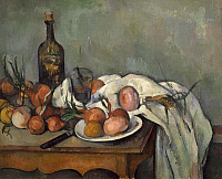 0301358 © Granger - Historical Picture ArchiveFINE ART.   Still life with onions (Les oignons roses), by Paul Cezanne (1839-1906). Full Credit: DEA / G. DAGLI ORTI / Granger, NYC -- All rights reserved.
