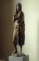 0301560 © Granger - Historical Picture ArchiveFINE ART.   Penitent Magdalene, 1453-1455, by Donatello (ca 1386-1466), wooden statue. Full Credit: DEA / G. NIMATALLAH / Granger, NYC -- All rights reserved.