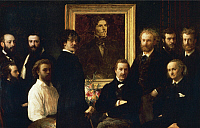 0301831 © Granger - Historical Picture ArchiveFINE ART.   Homage to Delacroix, 1864, by Henri Fantin-Latour (1836-1904), oil on canvas, 160x250 cm. Full Credit: DEA PICTURE LIBRARY / Granger, NYC -- All rights reserved.
