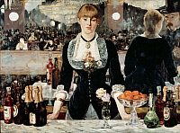 0301858 © Granger - Historical Picture ArchiveFINE ART.   A bar at the Folies Bergeres, 1881, by Edouard Manet (1832-1883), oil on canvas, 96x130 cm. Full Credit: DEA PICTURE LIBRARY / Granger, NYC -- All rights reserved.