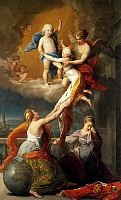 0302606 © Granger - Historical Picture ArchiveFINE ART.   Allegory for the death of Ferdinand IV's two children, by Pompeo Batoni (1708-1787). Full Credit: DEA / A. DAGLI ORTI / Granger, NYC -- All rights reserved.