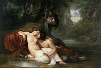 0302821 © Granger - Historical Picture ArchiveFINE ART.   Rinaldo and Armida, 1813-1814, by Francesco Hayez (1791-1882), oil on canvas, 198x295 cm. Full Credit: DEA / A. DAGLI ORTI / Granger, NYC -- All rights reserved.