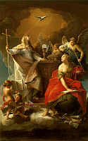 0302905 © Granger - Historical Picture ArchiveFINE ART.   Allegory of Religion, by Pompeo Batoni (1708-1787). Full Credit: DEA / A. DAGLI ORTI / Granger, NYC -- All Rights Reserved.