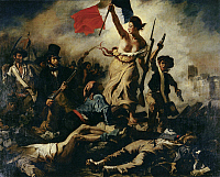 0303173 © Granger - Historical Picture ArchiveFINE ART.   Liberty Leading the People (July 28, 1830), 1830, by Eugene Delacroix (1798-1863), oil on canvas, 260x325 cm. Full Credit: DEA / G. DAGLI ORTI / Granger, NYC -- All rig
