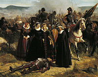 0303229 © Granger - Historical Picture ArchiveFINE ART.   Mary Stuart in Crookstone battlefield, 1861, by Giovanni Fattori (1825-1908), oil on canvas, 76x108 cm. Full Credit: DEA / G. NIMATALLAH / Granger, NYC -- All rights re