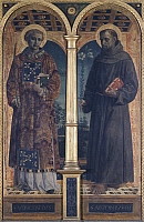 0303285 © Granger - Historical Picture ArchiveFINE ART.   The Saints Vincent and Anthony, side compartment of the Altarpiece of Santa Maria delle Grazie, Vincenzo Foppa (ca 1427-ca 1515), 151x96 cm. Full Credit: DEA / M. CARRIERI / Granger, NYC -- All rights reserved.