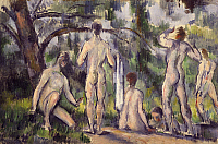 0303484 © Granger - Historical Picture ArchiveFINE ART.   Study for Bathers, ca 1890, by Paul Cezanne (1839-1906). Full Credit: DEA / V. PIROZZI / Granger, NYC -- All Rights Reserved.