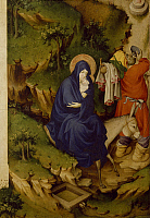 0303557 © Granger - Historical Picture ArchiveFINE ART.   Flight into Egypt, detail from the right panel of the Champmol Altar, 1393-1399, by Melchior Broederlam (ca 1355-ca 1411), tempera on wood, 167x125 cm. Full Credit: DEA / G. DAGLI ORTI / Granger, NYC -- All rights reserved.