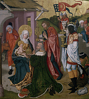 0303574 © Granger - Historical Picture ArchiveFINE ART.   Adoration of the Magi, ca 1475, by Martin Schongauer (ca 1430-1491). Full Credit: DEA / G. DAGLI ORTI / Granger, NYC -- All Rights Reserved.