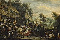 0303679 © Granger - Historical Picture ArchiveFINE ART.   Fair in Flanders, by Cornelis Dusart (1660-1704). Full Credit: DEA / G. DAGLI ORTI / Granger, NYC -- All rig