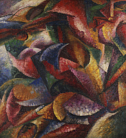 0303768 © Granger - Historical Picture ArchiveFINE ART.   Dynamism of the human body, 1913, by Umberto Boccioni (1882-1916), oil on canvas, 100x100 cm. Full Credit: DEA / G. CIGOLINI / Granger, NYC -- All rights reserved.