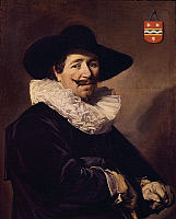 0304138 © Granger - Historical Picture ArchiveFINE ART.   Portrait of Andries van der Horn, 1638, by Frans Hals (1581-1666), oil on canvas, 86x67 cm. Full Credit: DEA / G. DAGLI ORTI / Granger, NYC -- All rights reserved.