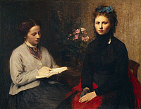 0304168 © Granger - Historical Picture ArchiveFINE ART.   The reading, 1870, by Henri Fantin-Latour (1836-1904), oil on canvas, 95x123 cm. Full Credit: DEA / G. DAGLI ORTI / Granger, NYC -- All rights reserved.