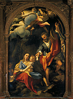 0304313 © Granger - Historical Picture ArchiveFINE ART.   Madonna of the Scodella (bowl), 1530, by Antonio Allegri, known as Correggio (1489-ca 1534). Oil on canvas, 216.5x137.3 cm. Full Credit: DEA / A. DE GREGORIO / Granger, NYC -- All Rights Reserved.