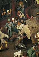 0304605 © Granger - Historical Picture ArchiveFINE ART.   The fight between Carnival and Lent, 1559, by Pieter Brueghel the Elder (1525-1569), oil on panel. Detail. Full Credit: DEA / G. NIMATALLAH / Granger, NYC -- All rights