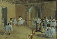 0304754 © Granger - Historical Picture ArchiveFINE ART.   The dance foyer at the opera on the Rue Le Peletier, 1872, by Edgar Degas (1834-1917). Full Credit: DEA / G. DAGLI ORTI / Granger, NYC -- All rights reserved.