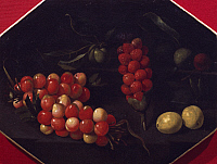 0305087 © Granger - Historical Picture ArchiveFINE ART.   Still life with cherries and strawberries, by Luca Forte (1610-1670). Full Credit: DEA / A. DAGLI ORTI / Granger, NYC -- All Rights Reserved.